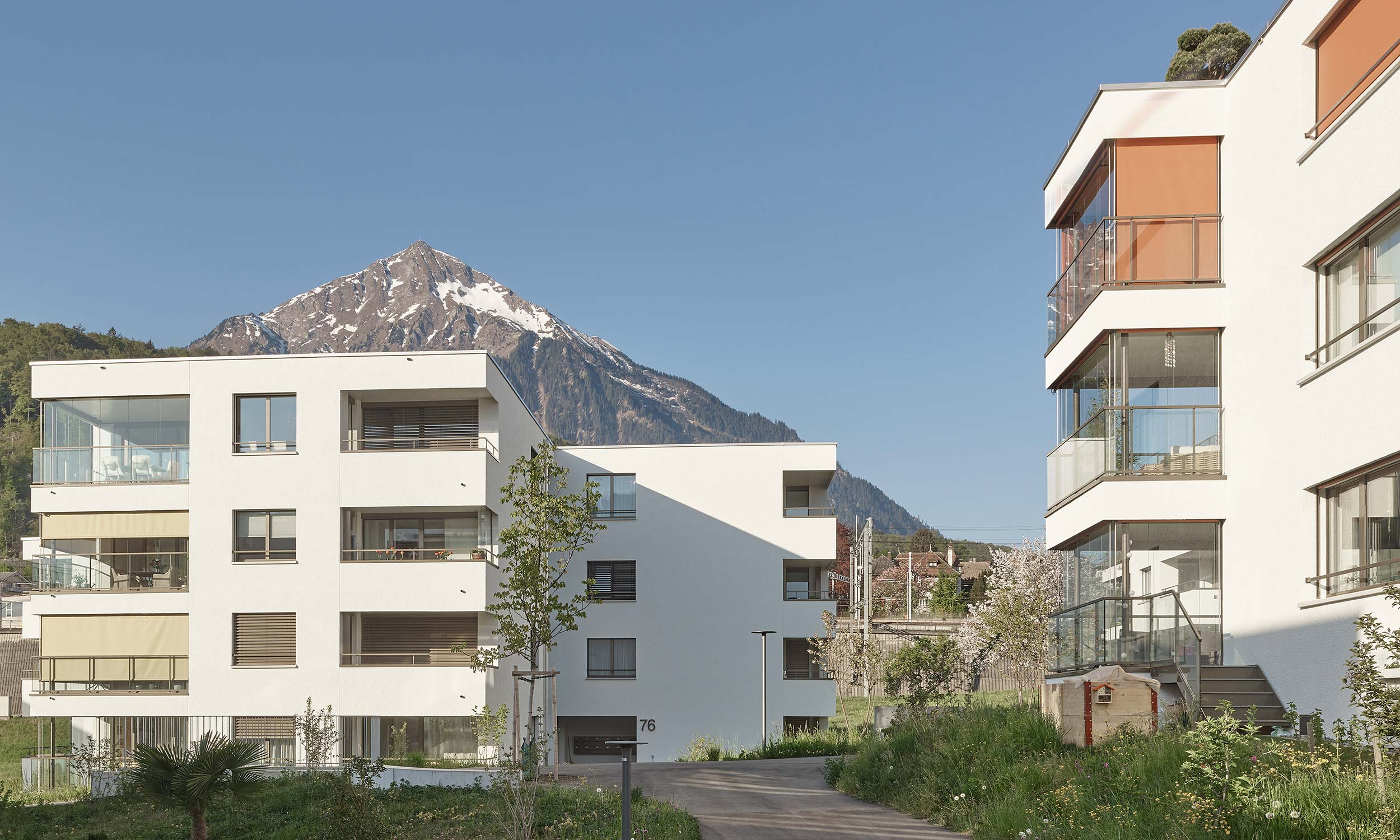 HMS Architekten AG Spiez Unterseen Wohnüberbauung Escherpark Spiez